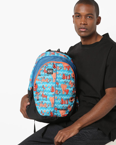 Graphic Print Backpack By Wildcraft ( Blue )