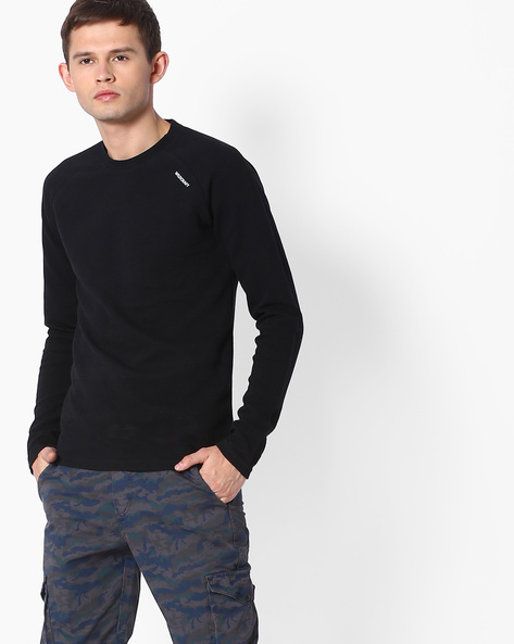Full-Sleeved Regular Fit T-shirt By Wildcraft ( Black )