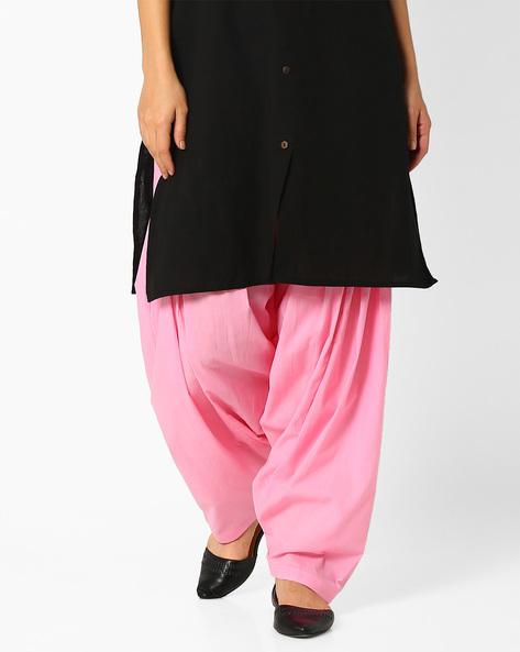Pleated Patiala Pants By Stylenmart ( Lightpink )