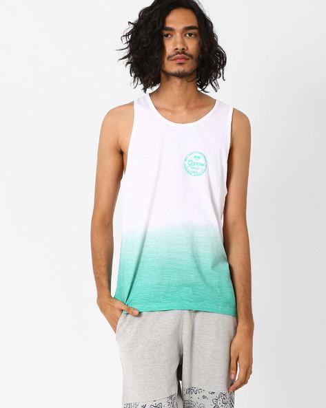 HD Ombre Print Fashion Vest By Garcon ( Blue )