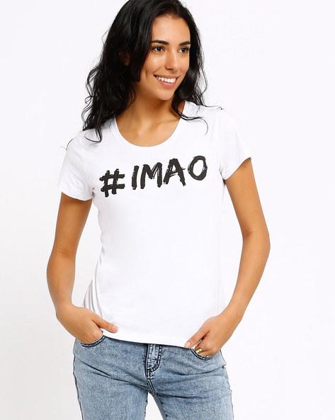 Graphic Print T-shirt By AJIO ( White ) - 460002339012