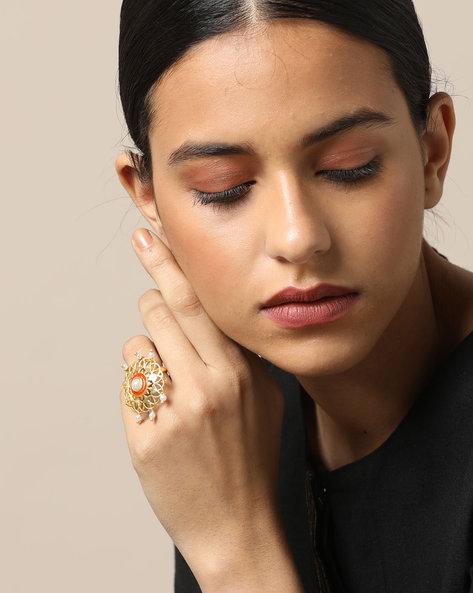 Matte Finish Brass Ring By Indie Picks ( Multi ) - 460161684001