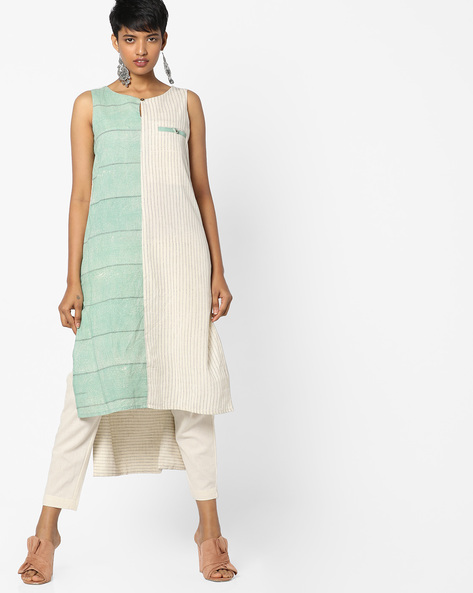 Printed Straight Kurta By Project Eve IW Casual ( Green )