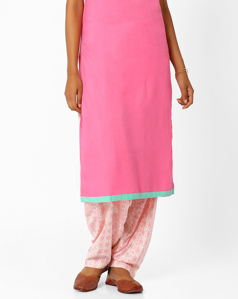 Printed Salwar Pants By AJIO ( Pink )