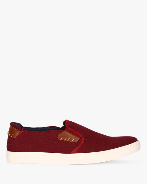 Slip-On Sneakers With Contrast Panels By Nuboy ( Red )