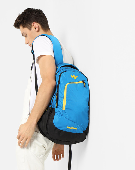 Colourblock Laptop Backpack By Wildcraft ( Blue )