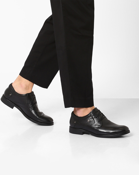 Genuine Leather Formal Shoes By Lee Cooper ( Black )