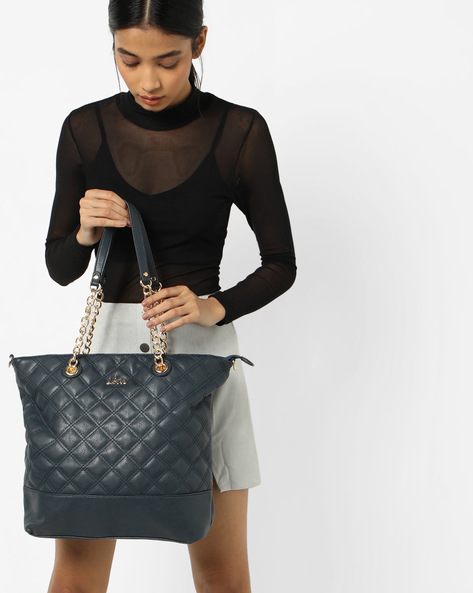 Tajik Quilted Hobo Handbag By Lavie ( Navy )
