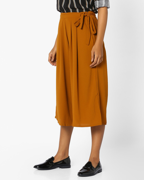 Culottes With Tie-Up By FIG ( Mustard )