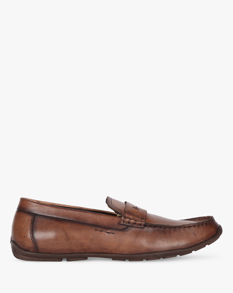 Slip-On Formal Shoes By Buckle Up ( Brown )