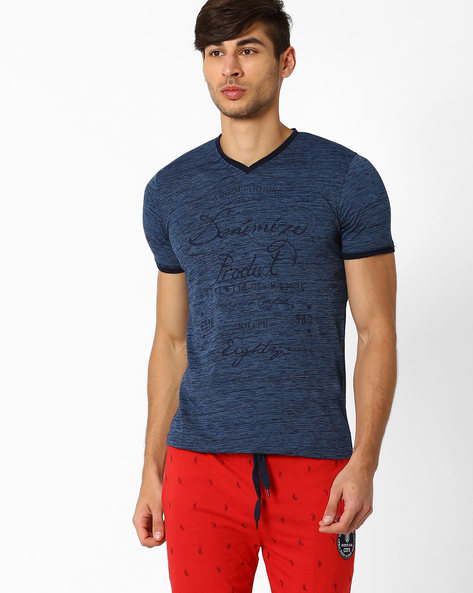 Graphic Print Slim T-Shirt By Killer ( Assorted )