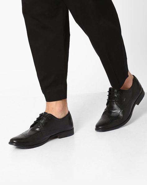 Genuine Leather Derby Shoes By Lee Cooper ( Black ) - 450084929001