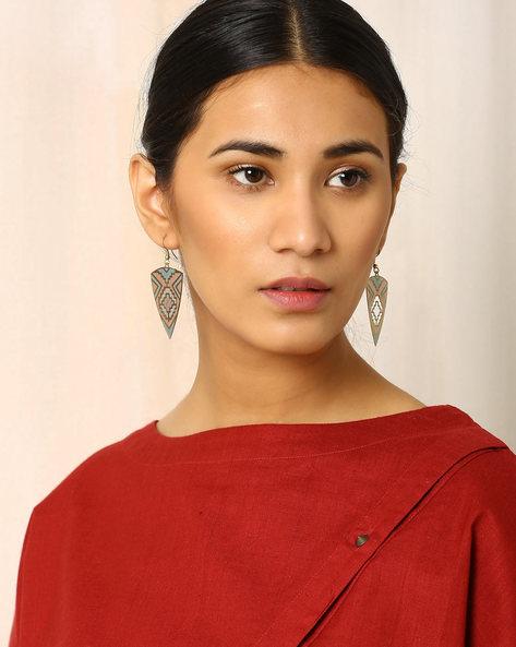 Brass Drop-Earrings By Indie Picks ( Multi ) - 460017806001