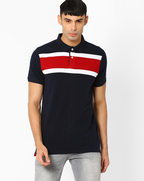 Muscle Fit Polo T-shirt By BASICS ( Navy ) - 460039653002