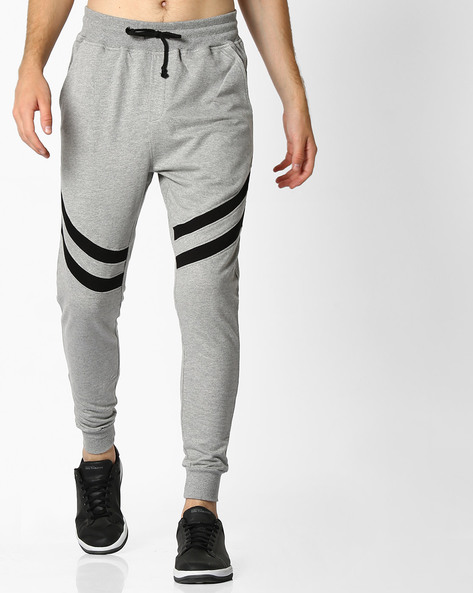 Slim Fit Joggers With Elasticated Waist By DEEZENO ( Grey ) - 460106826001