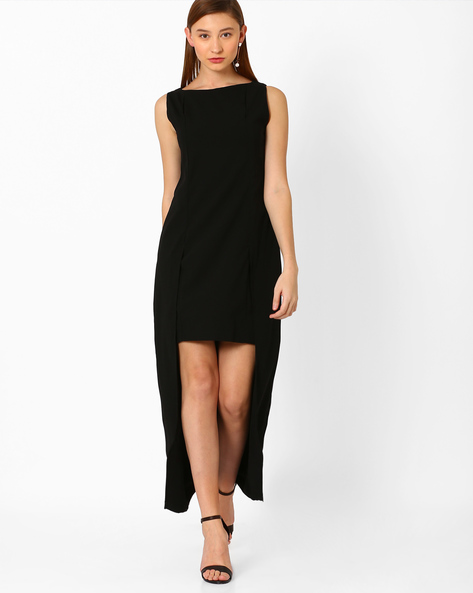 Cape Sheath Dress By AJIO ( Black )