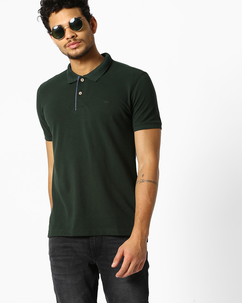 Slim Fit Polo T-shirt By FLYING MACHINE ( Assorted )