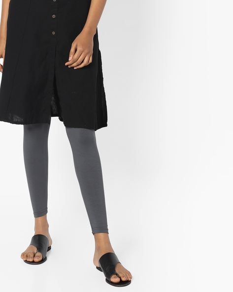 Ankle-Length Knit Leggings By Project Eve IW Casual ( Grey )