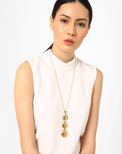 Statement Necklace With Pendant By AJIO ( Gold )