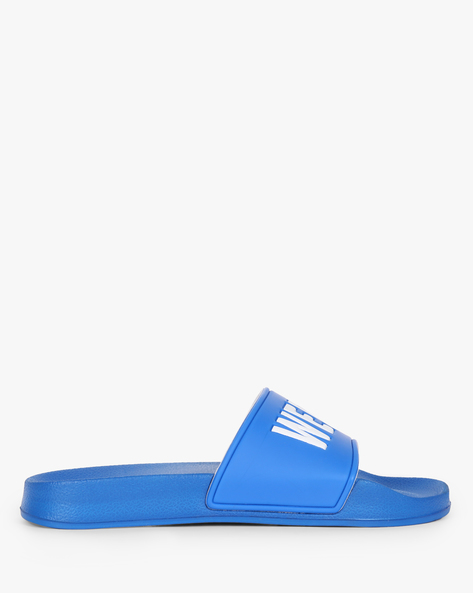Slip-Ons With Typographic Upper By UNITED COLORS OF BENETTON ( Blue )