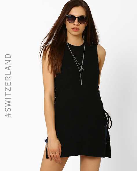 Sleeveless Top With Lace-Up Detail By TALLY WEiJL ( Black )