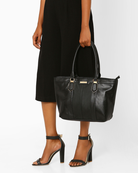 Panelled Tote Bag By Addons ( Black )