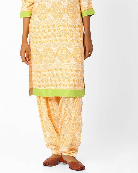 Printed Salwar Pants By AJIO ( Beige )