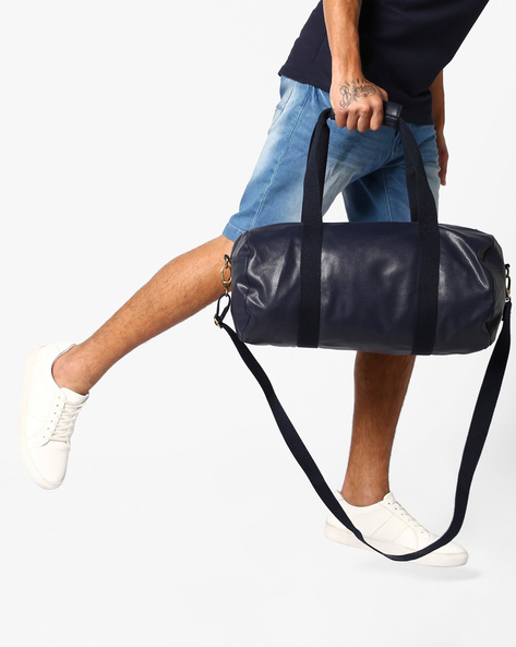 Duffel Bag With Flat Handles By AJIO ( Navy )