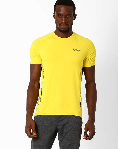 Crew-Neck T-shirt With QuickDry By PERFORMAX ( Yellow )