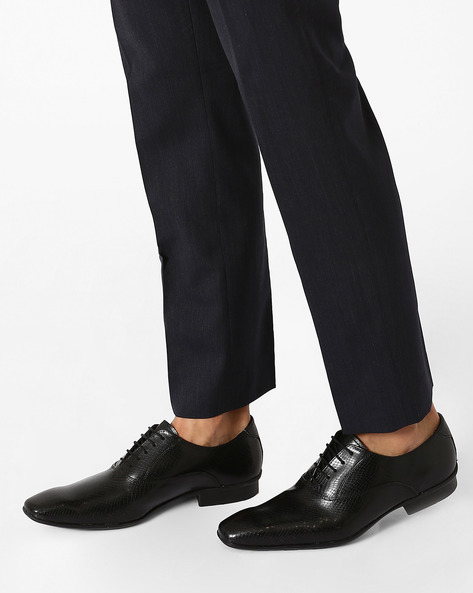 Faux Leather Arthur Oxford Shoes By Knotty Derby ( Black )