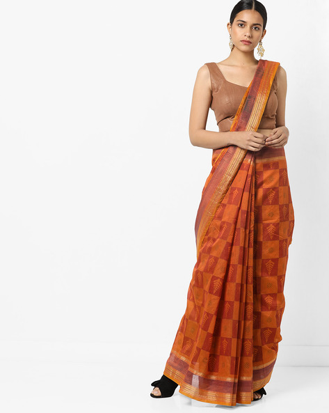 Printed Saree With Blouse By Florence ( Multi ) - 460174803001