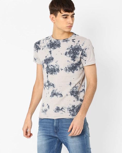 Printed Slim Fit T-shirt By Jack & Jones ( Greymelange )