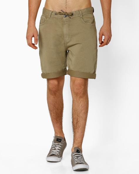 Regular Fit Shorts With Drawstring By TEAM SPIRIT ( Khaki )