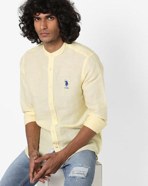 Mandarin Collar Shirt With Curved Hem By U.S. Polo Assn. ( Assorted )