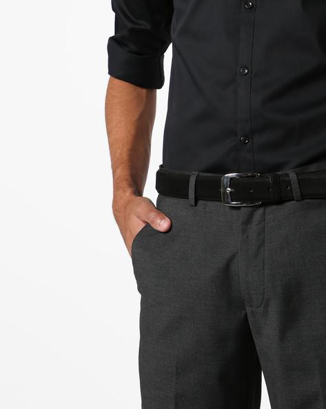 Genuine Suede Leather Belt By AJIO ( Black )