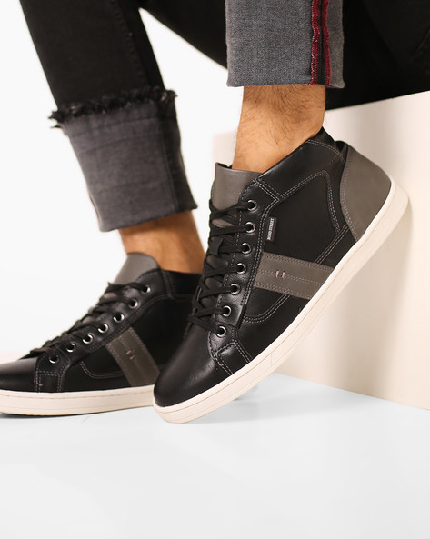 Bond Street by Red Tape Black Lace-Ups Mid-Top Lace-Up Sneakers