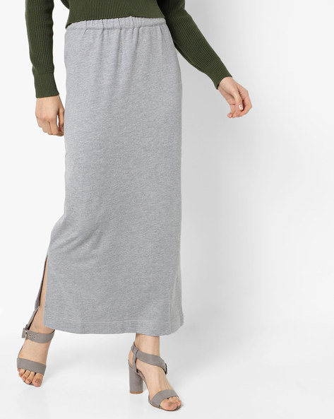 Straight Maxi Skirt By Project Eve WW Casual ( Grey )