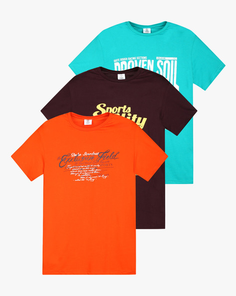 Pack Of 3 Printed T-shirts By DUKE ( Ltgrey )