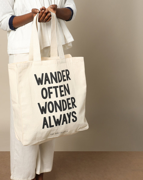 Multipurpose Cotton Canvas Tote Bag By The Art People ( White ) - 460179682001