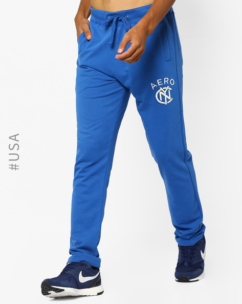 Cotton Track Pants With Drawstring Waist By Aeropostale ( Blue )