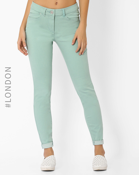 Low-Rise Jeggings By Marks & Spencer ( Mint )