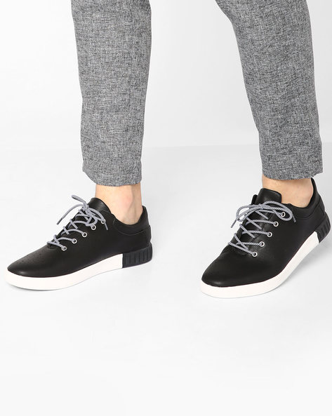 Panelled Lace-Up Shoes By Muddman ( Black )