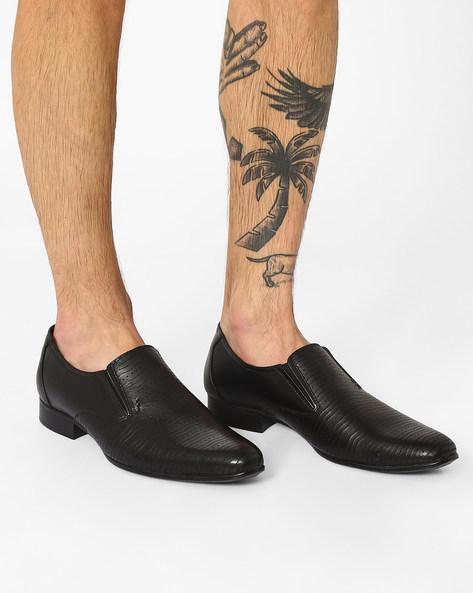 Leather Formal Slip-Ons By Lee Cooper ( Black )
