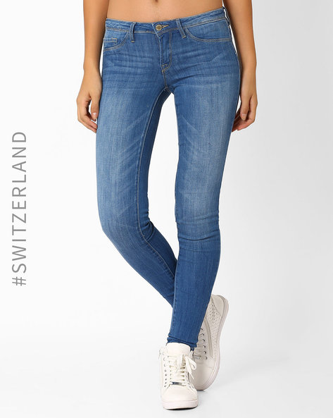 Low-Rise Skinny Jeans By TALLY WEiJL ( Lightblue )