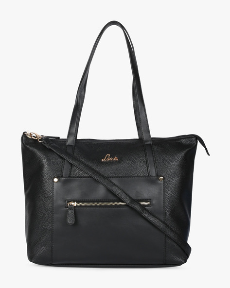 Skylon Textured Tote Bag By Lavie ( Black )