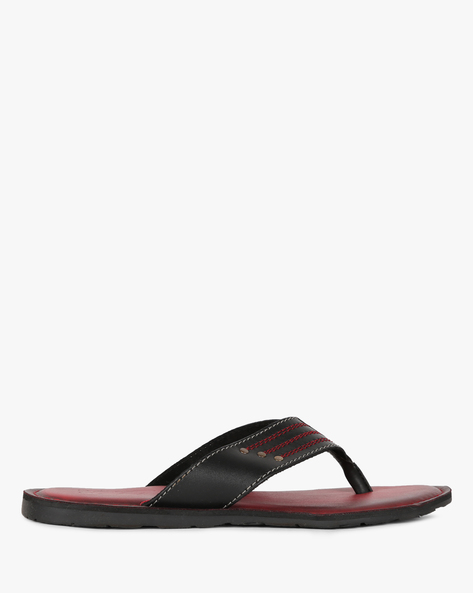 Thong-Strap Flip-Flops With Stitch Accent By Estd.1977 ( Red ) - 460178693006