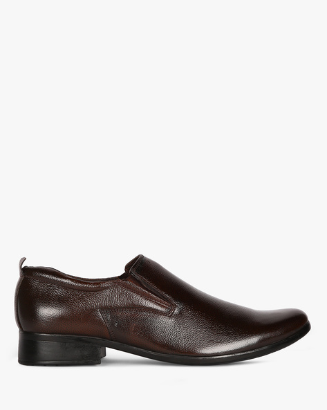 Genuine Leather Formal Slip-On Shoes By ESCARO ( Brown )