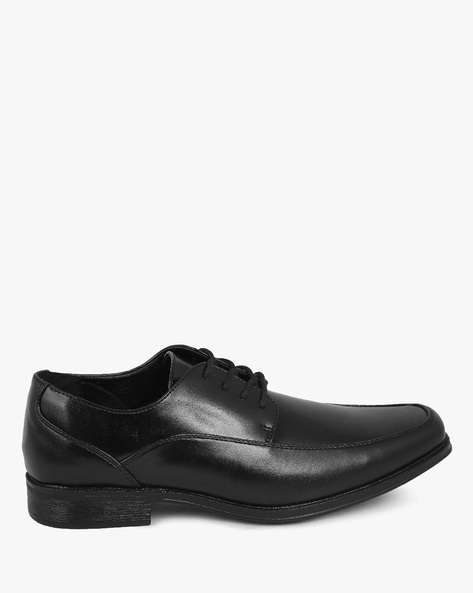 Crosby Plain-Toe Derby Shoes By DEXTER MEN ( Black )