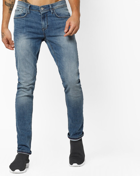 Lightly Washed Mid-Rise Jeans By Tom Tailor ( Lightblue )