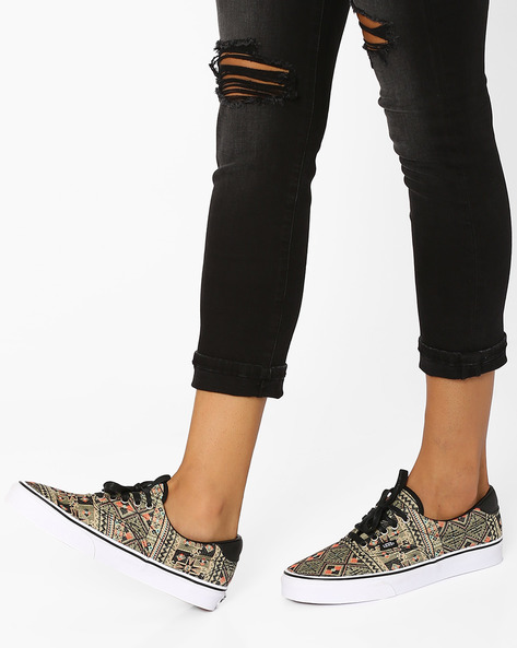 Moroccan Geo Print Casual Shoes By Vans ( Multi )